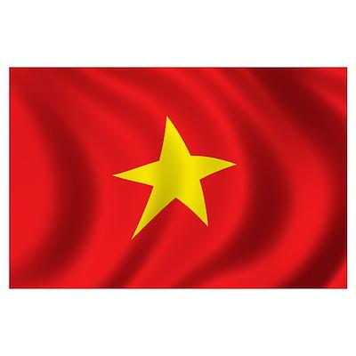 Flag of Vietnam Wall Art Poster