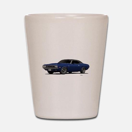 1970 Challenger Dark Blue Shot Glass