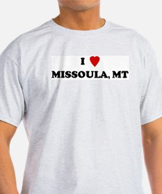 I Love Missoula Ash Grey T-Shirt