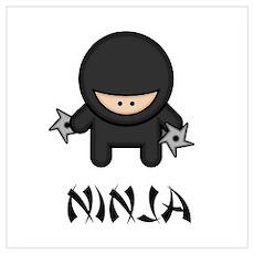 Ninja Throwing Star Wall Art Poster