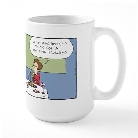 Knitting Problem Large Mug