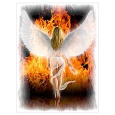 Fallen Angel Wall Art Poster