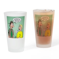 Chaplain's Aide Question Drinking Glass