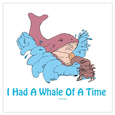 Whale of a Time Jonah Wall Art Poster