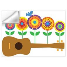 Ukulele Flowers Wall Art Wall Decal