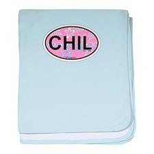 Chilmark MA - Oval Design. baby blanket