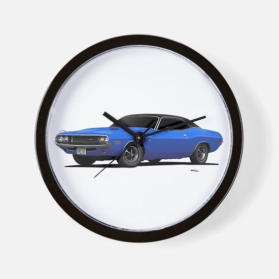 1970 Challenger Light Blue Wall Clock