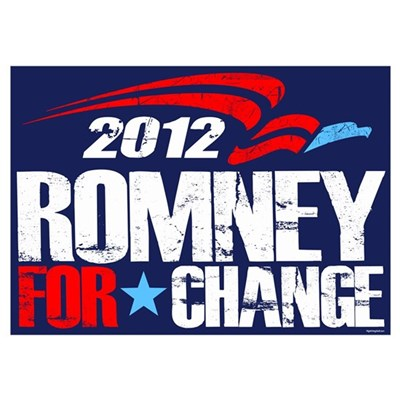 Romney 2012 For Change Wall Art Poster