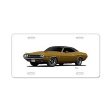 1970 Challenger Light Gold Aluminum License Plate