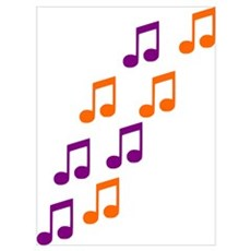 Music Notes Wall Art Poster