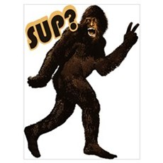 Bigfoot Sasquatch Yetti sup Wall Art Poster