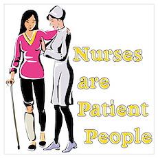 Nurses Patient People Wall Art Poster