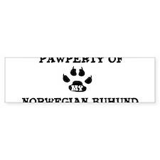 Pawperty: Norwegian Buhund Bumper Bumper Sticker