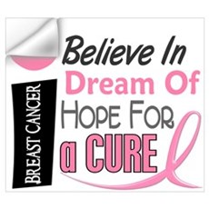 BELIEVE DREAM HOPE Breast Cancer Wall Art Wall Decal