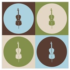 Cello Pop Art Wall Art Poster