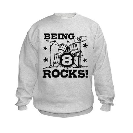 8th Birthday Kids Sweatshirt