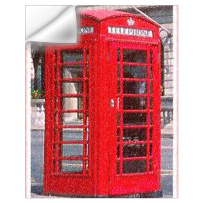 British Phone Booth Wall Art Wall Decal