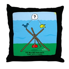Weather Rock Flood Throw Pillow