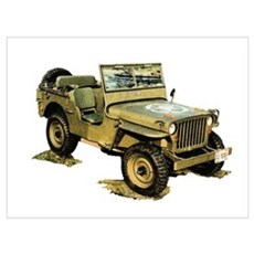 Willys Jeep Wall Art Poster
