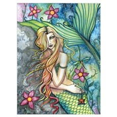 Colorful Mermaid Wall Art Poster