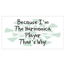 Because Harmonica Player Wall Art Poster
