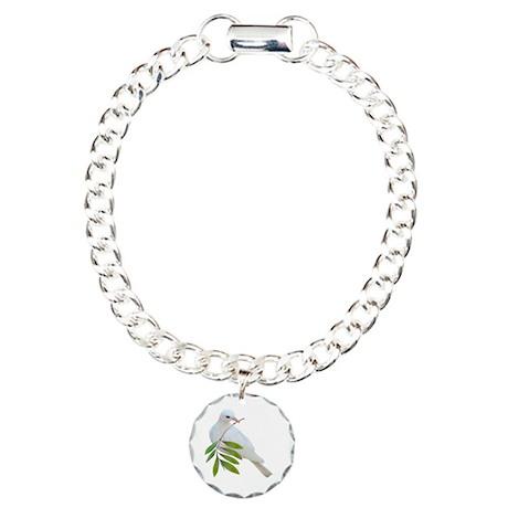 Dove Olive Branch Charm Bracelet, One Charm