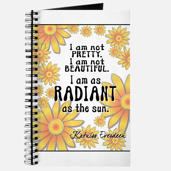 HungerGames Katniss Quote Radiant Journal