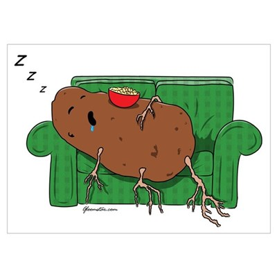 Couch Potato Wall Art Poster
