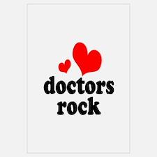 doctors rock (red/black) Wall Art