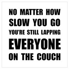 Lapping The Couch Wall Art Poster