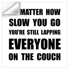 Lapping The Couch Wall Art Wall Decal