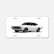 1970 Challenger White Aluminum License Plate