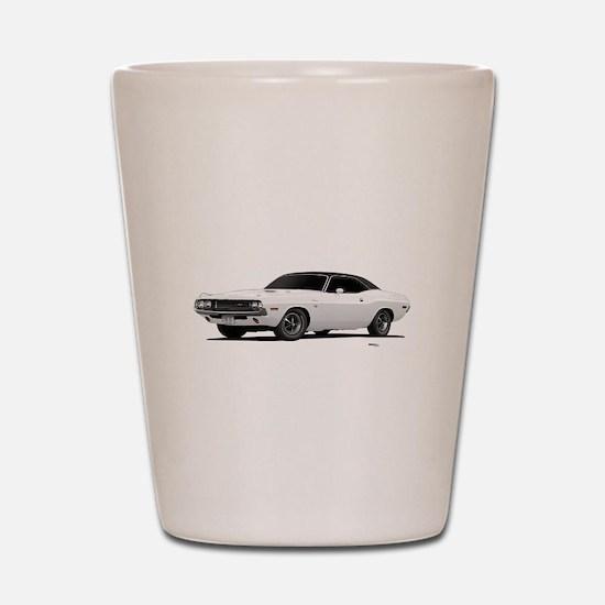 1970 Challenger White Shot Glass