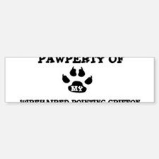 Pawperty: Wirehaired Pointing Bumper Bumper Bumper Sticker