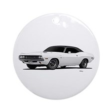 1970 Challenger White Ornament (Round)