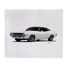 1970 Challenger White Throw Blanket