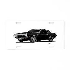 1970 Challenger Black Aluminum License Plate