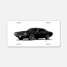 1970 Challenger Black Aluminum License Plate