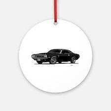 1970 Challenger Black Ornament (Round)
