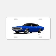 1970 Challenger Bright Blue Aluminum License Plate