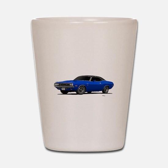 1970 Challenger Bright Blue Shot Glass