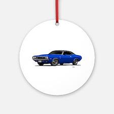 1970 Challenger Bright Blue Ornament (Round)