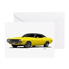 1970 Challenger Bright Yellow Greeting Card