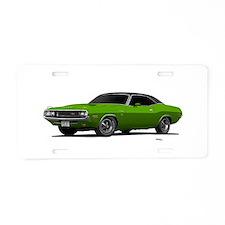 1970 Challenger Green Go Aluminum License Plate