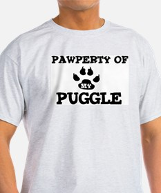 Pawperty: Puggle Ash Grey T-Shirt