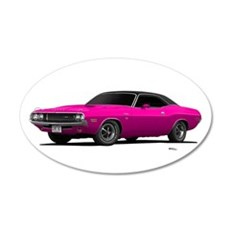 1970 Challenger Panther Pink 22x14 Oval Wall Peel