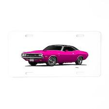 1970 Challenger Panther Pink Aluminum License Plat