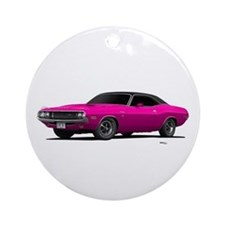 1970 Challenger Panther Pink Ornament (Round)