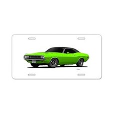 1970 Challenger Sub Lime Aluminum License Plate