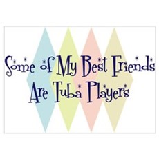 Tuba Players Friends Wall Art Poster